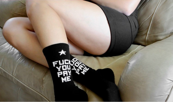 "1 Pairs Tide Brand Style FUCK YOU PAY ME Sport Socks for Men and Women Long Cotton Socks Skateboard QUALITY "" FREE SHIPPING "" - More Stuff I Like"