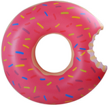 "Pink Donut Swim Float Ring Summer Water Sport Inflatable Pool Toy "" FREE SHIPPING "" - More Stuff I Like"