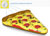 Pizza Slice Swimming Pool Float Ring Summer Water Sport Inflatable Pool Toy
