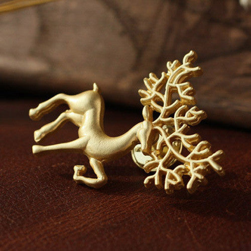korean reindeer brooches for women enamel pin christmas brooch decoration ornaments brooch jewelry cute pins broche