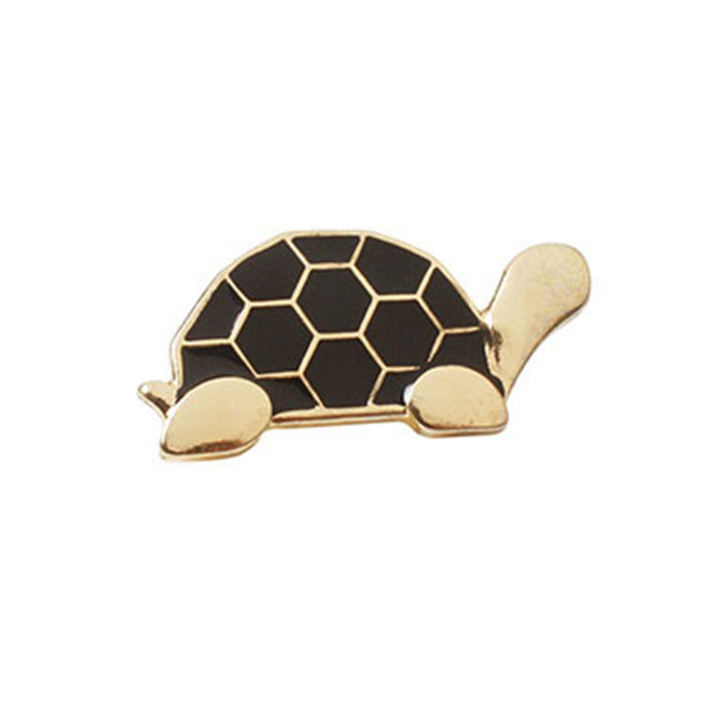 Enamel Metal Cute Tortoise Brooch Pins Gold Plated Lapel Pin