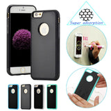 Antigravity TPU Frame case For iPhone 5 5S SE 6S Plus Magical Anti gravity Nano Suction Cover Adsorbed car Hard Case Shell Black