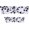 2 Pcs. Set Mom Baby Rabbit Ears Hair Bow Tie Headband