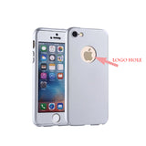 Full Body Coverage Protection Hard Slim Phone Case With Tempered Glass Screen Protector For IPhone 6 6S Plus 5 5S SE 7 7 Plus