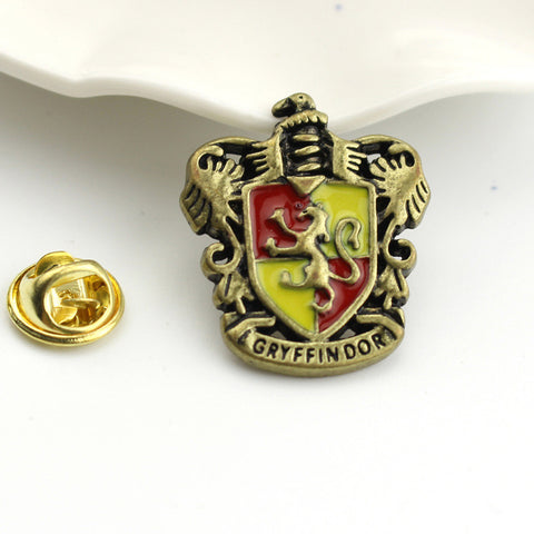 5 Design Vintage Hogwarts School Badge Enamel Brooch Pins