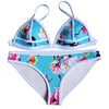 Women Flamingo Neoprene Bandage Bikini Set