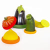 4pcs Food Huggers Silicone Cap Food Saver