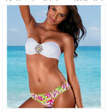 Women Printed Crystal Diamond Push Up Bikini
