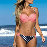 Push Up Low-Waist Biquini Bikini