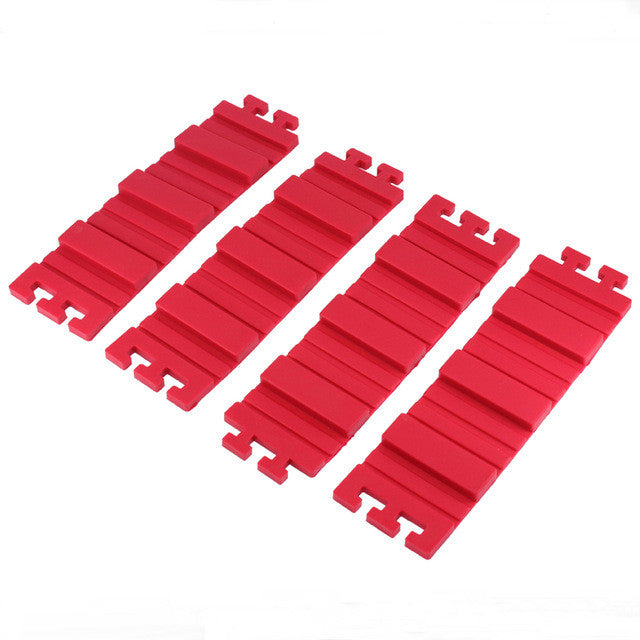 "4 Pcs. DIY Silicone Interlocking Cake Molds ""JUST PAY SHIPPING"""