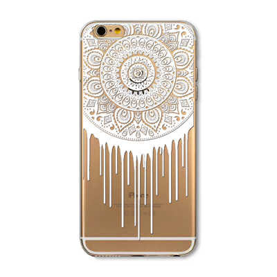 Floral Paisley Henna Clear Soft Case For iPhone 6 6s 6Plus