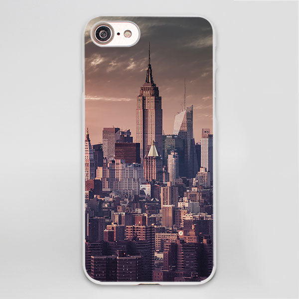 Vintage dusk new york skyline city design Case Cover for Apple iPhone