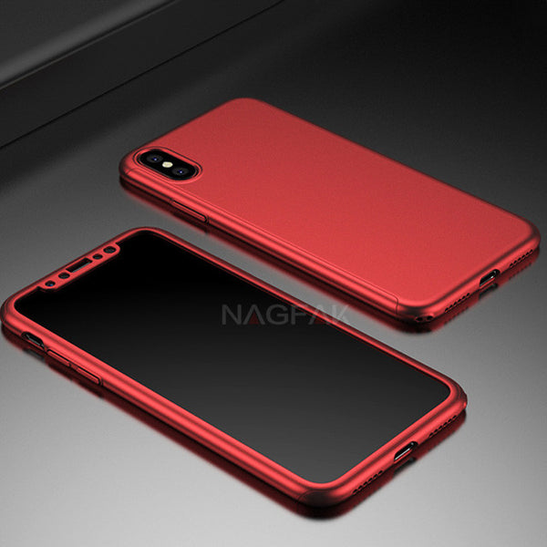 Luxury 360 Degree Shockproof Full Cover Cases For iPhone X