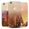 Soft Natural landscape TPU Case Cover for capinhas iphone 8 7 Plus 6s 5s SE Silicone Case Scenery Effiel Tower Paris London City