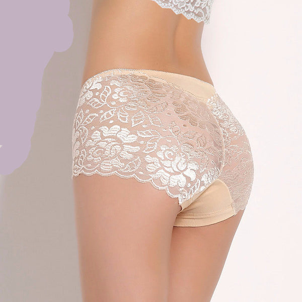 Women's Panties Full Transparent Lace Seamless Plus Sizes