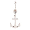 Dangling Anchor Belly button rings