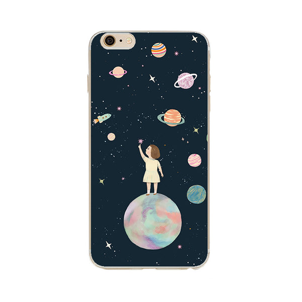 Airship Astronaut Stars iPhone Case