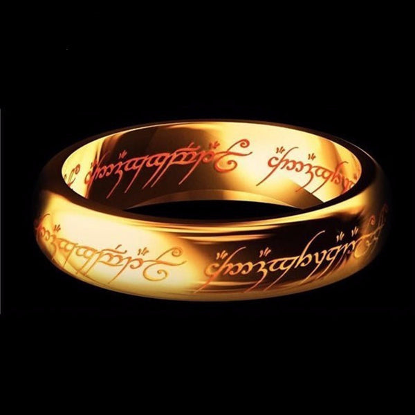 Midi Ring Tungsten One Ring of Power Gold the Lord of Ring Lvers