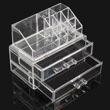 Transparent Two Drawer Acrylic Cosmetic Organizer