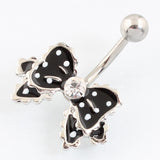 Bow fashion Belly button ring piercing