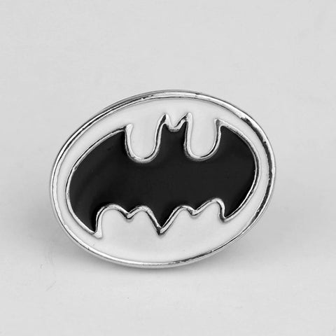 Batman Lapel Pin Superhero DC Comics Silver plated enamel pin