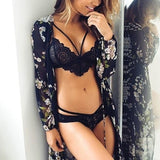 Women Lace Bralette Sheer Crochet Crop Top