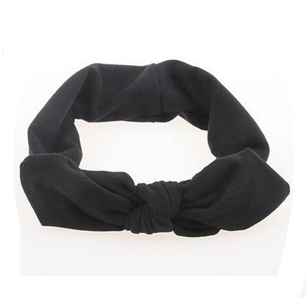 Lovely Elastic Stretch Plain Rabbit Bow Knot