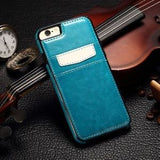 Luxury Leather Wallet Card Back Case For iPhone 6 6S Plus