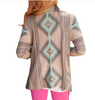 Irregular Long-Sleeved Cardigan Sweater