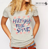 "Women Star Letter Print Gray T-shirts Vintage Short Sleeve T Shirts Casual "" FREE SHIPPING """