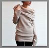 Off Shoulder Long Sleeve Pullover Loose Sweater