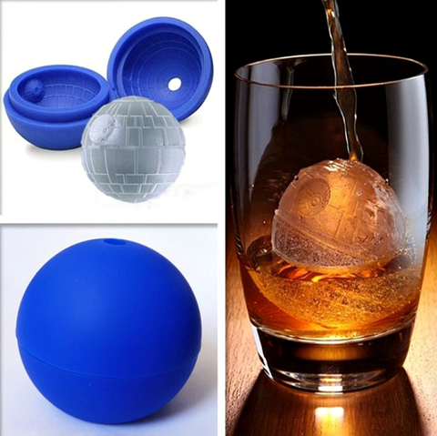 New Creative Silicone Blue Wars Death Star Ball Ice Cube Mold (FREE SHIPPING) - More Stuff I Like