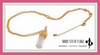 Crystal Quartz Natural Stone Necklace Gold Plated Long Chain