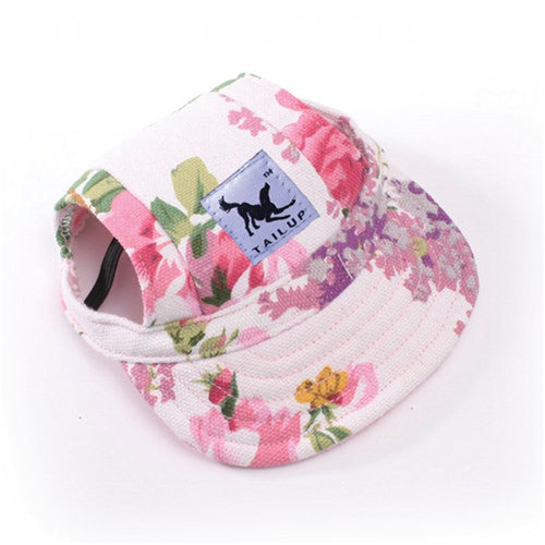Cutie Dog Hat With Ear Holes Baseball Cap For Small Pet Dog  -10 Styles