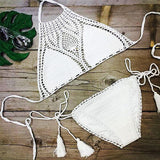 "2016 New Arrivals Sweet Nothings Crochet Women Bikini Set Sexy Leisure Swimsuit Black & White Bikinis ""FREE SHIPPING"" - More Stuff I Like"
