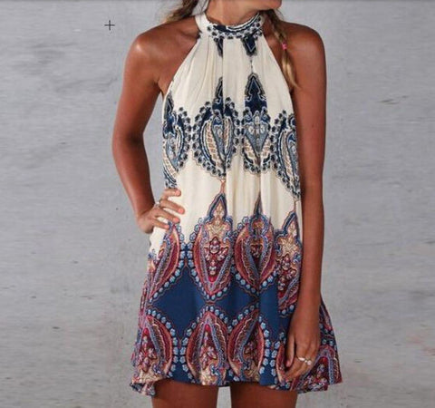 "2016 Boho Paisley Halter Dress ""FREE SHIPPING"" - More Stuff I Like"