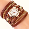 Fashion Hot Colorful Vintage Women Watches Weave Wrap Rivet Leather Bracelet Wristwatches Watch FREE SHIPPING - More Stuff I Like