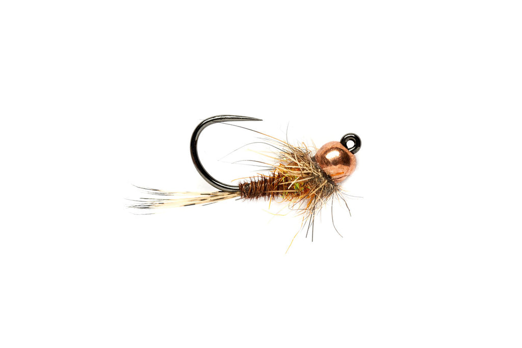 Hot Spot P/Tail Jig Orange - Tungsten Beadhead