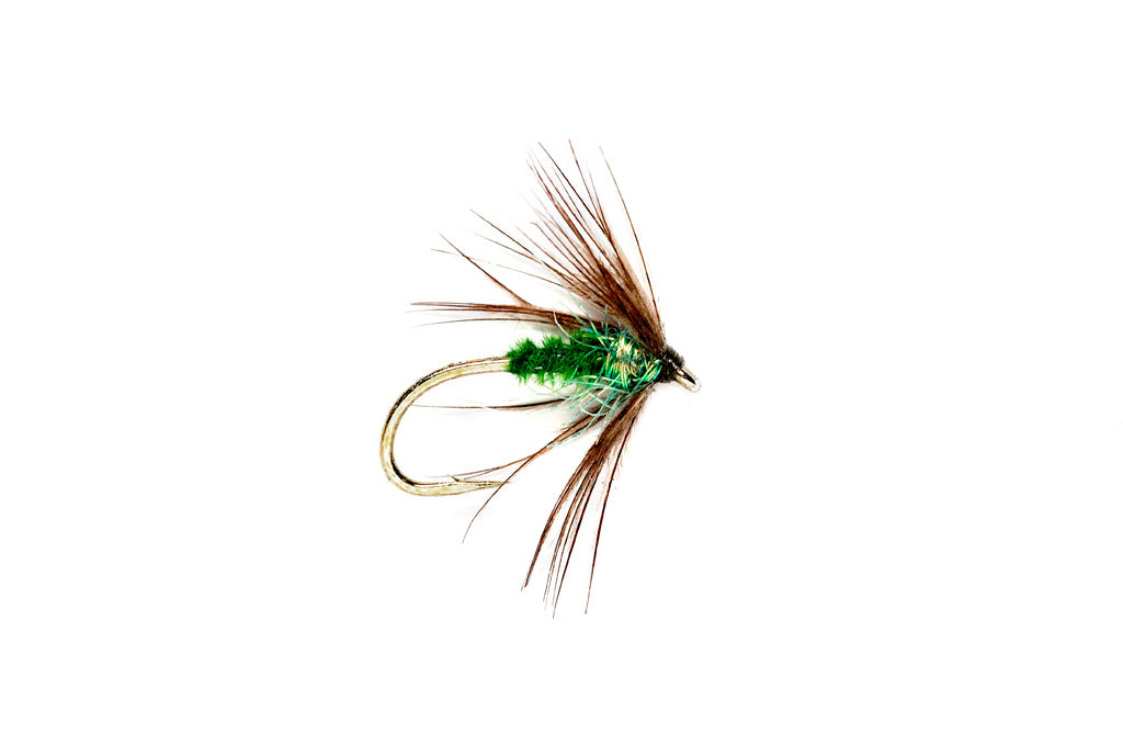 Sparkle Soft Hackle Caddis Green