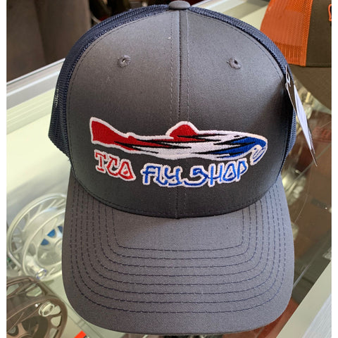 602ad606d855a TCO Fly Shop Steal Your Fish Trucker - Charcoal Navy