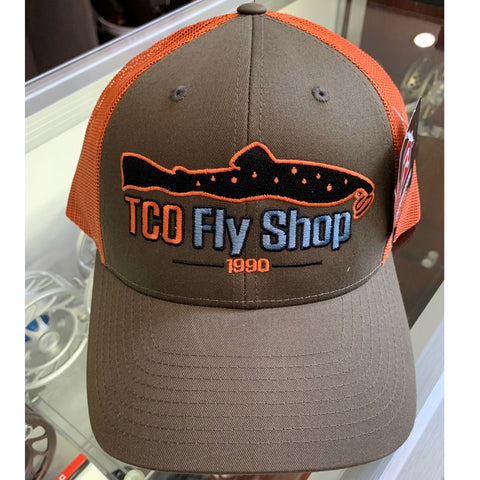 6f93cd0fbe983 TCO Fly Shop Hat Low Pro Trucker - Mushroom Burnt Orange