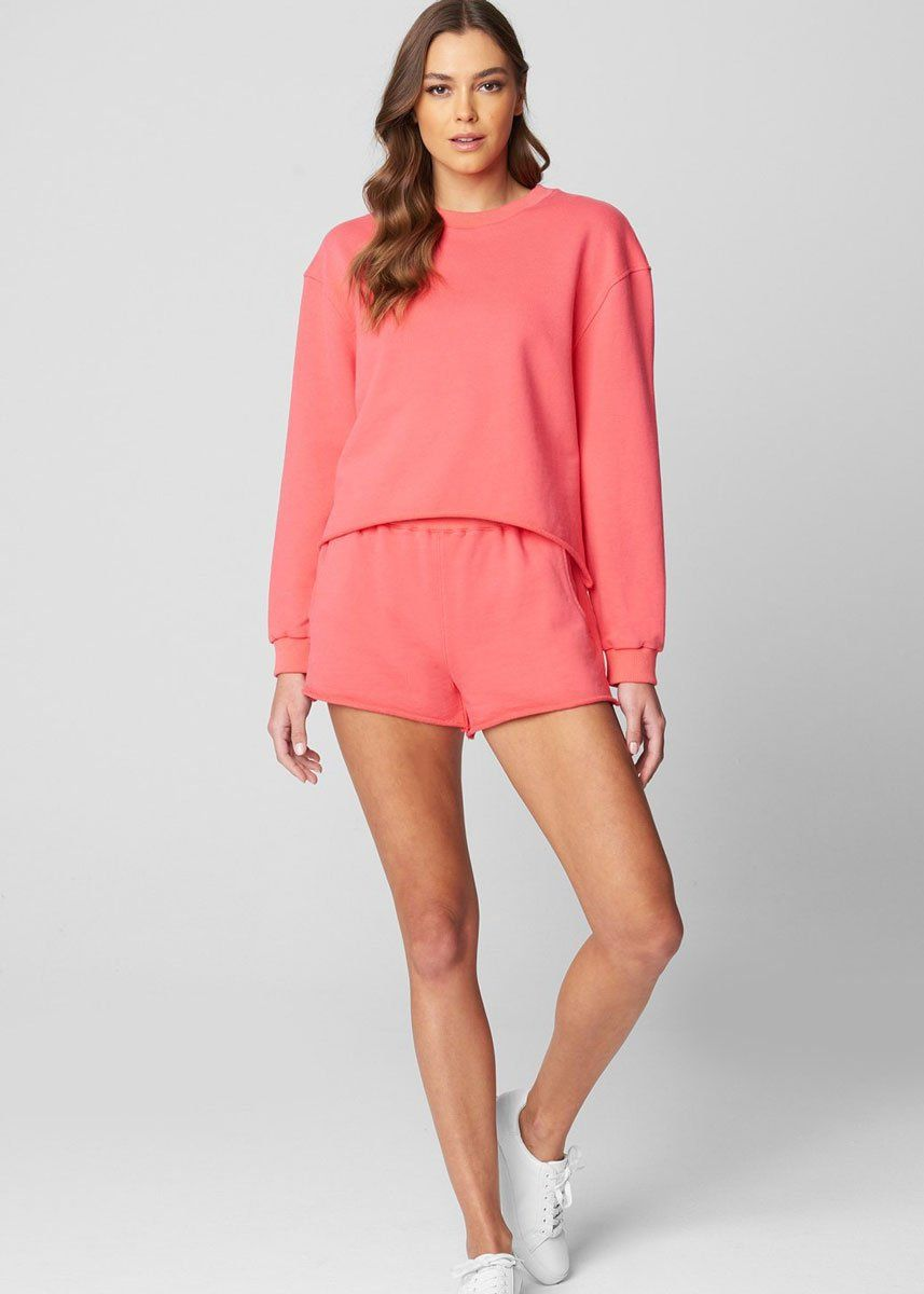 Take Me There French Terry Shorts - Coral