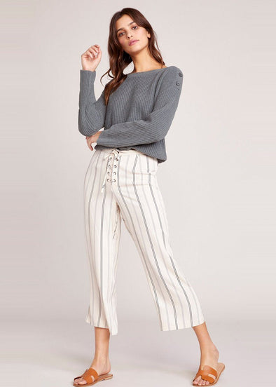 Whatever It Takes Stripe Cropped Pant
