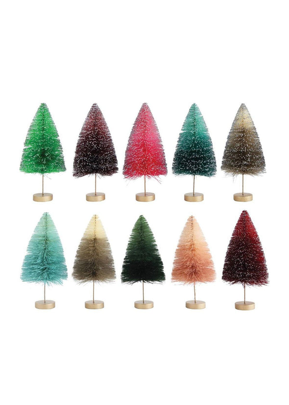 "Colorful Skinny Bottle Brush Tree - 5"" Wide"