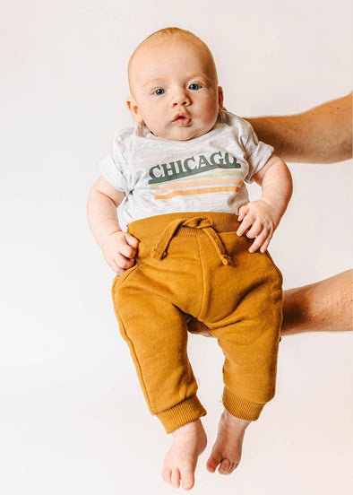 Chicago Retro Stripe Tee - Baby