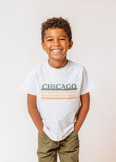 Chicago Retro Stripe Tee - Toddler