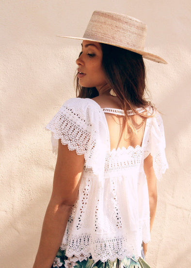 Ambrosia White Lace Top