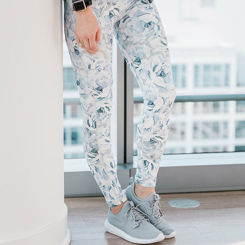 Antigua Floral Print Workout Legging