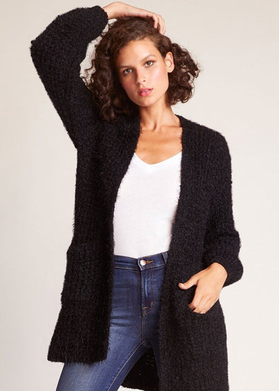 I've Been Busy Cardigan - Black