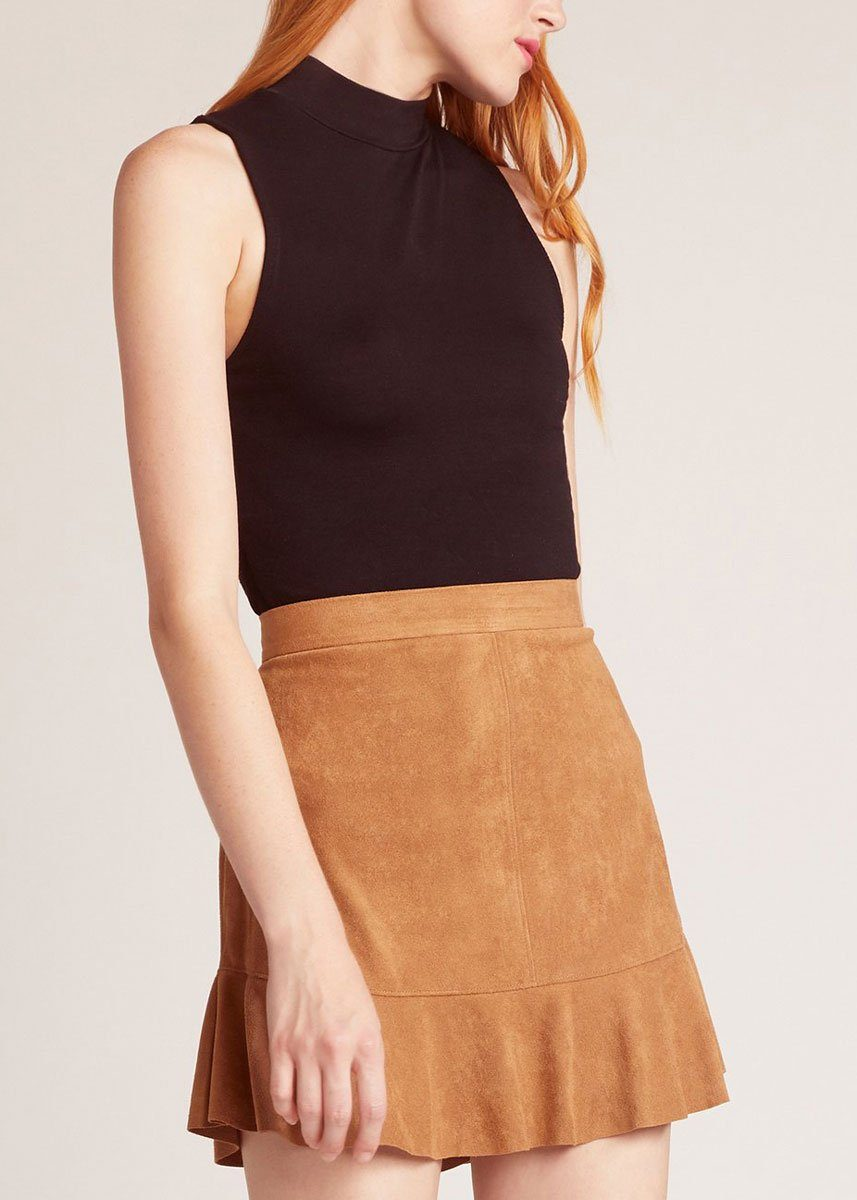 a1c4eb5b6 Run This Town Faux Suede Skirt – Alice & Wonder